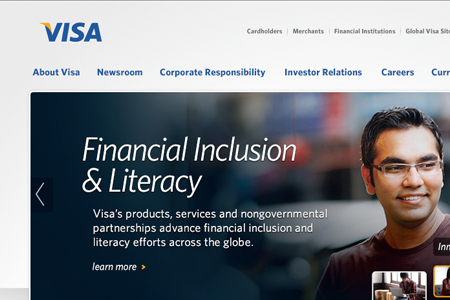 Visa Corporate Homepage